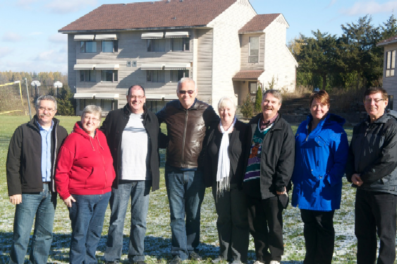 Pictured at the November 2013 Conference for Presbyterian Church in Canada Ministers at Crieff Hills Community: Garfield Havemann, Barb Fotheringham, Mike Maroney, Fred Stewart, Katherine Burgess, Ian Shaw, Cherie Inksetter, David Sherbino.